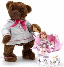 "BEST FRIENDS - 18"" Teddy Bear & 8"" Doll"