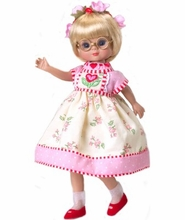 HEARTS AND FLOWERS - outfit for 8 inch doll