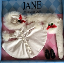 "JANE'S WINTER WHITE OUTFIT* - for 14"" doll"