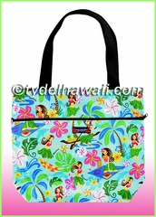Medium Reversible Hawaiian Tote Bag - 312Aqua