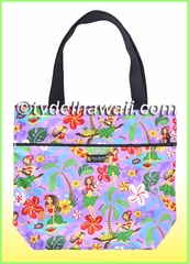 Medium Reversible Hawaiian Tote Bag - 313Purple