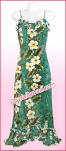 Hawaiian Spaghetti Dress - 449Green
