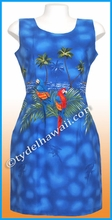 Island Parrot Hawaiian Tank Dress - 453Navy