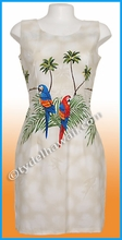 Island Parrot Hawaiian Tank Dress - 453Cream