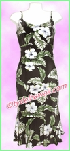 Rayon Hawaiian Classic Sun Dress - - 807Black