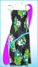 Aloha Beach Dress - 1404Black/Green