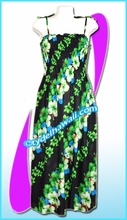 Aloha Beach Dress -7013Black/Green