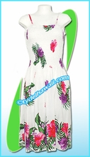 White Aloha Beach Dress - 3102