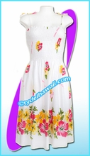 White Aloha Beach Dress - 6020
