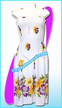 White Aloha Beach Dress - 6025