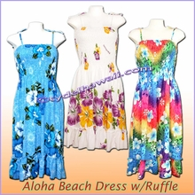Aloha Beach Dress with Ruffle