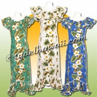 Aloha Hibiscus Panel Hawaiian Elegant Dress - 449