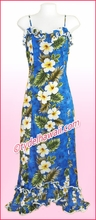 Hawaiian Spaghetti Dress - 449Navy