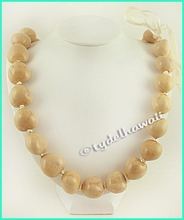 Beige Kukui Nut Necklace