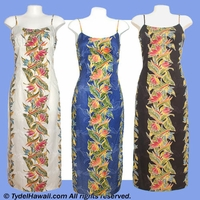 Bird of Paradise Hawaiian Long Sun Dress - 163