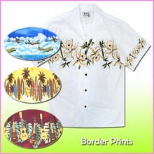 Border Design Aloha Shirts