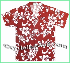 Boy Hawaiian Shirt - 354Red