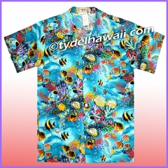 Boy Hawaiian Shirt - 182Green