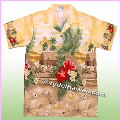 Boy Hawaiian Shirt - 315Yellow