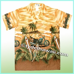 Boy Hawaiian Shirt - 336Yellow