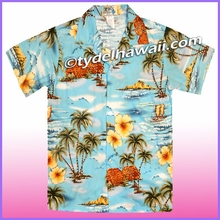 Boy Hawaiian Shirt - 357Blue