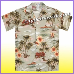 Boy Hawaiian Shirt - 357Green