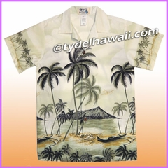 Boy Hawaiian Shirt - 401Gray