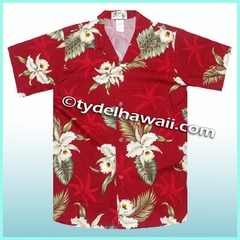 Boy Hawaiian Shirt - 413Red