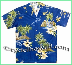 Boy Hawaiian Shirt - 478Navy