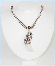 Buffalo Bone W/Cotton Cord Necklace - 50% off