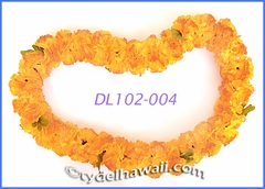 Carnation Palua Hawaiian Lei - Yellow/Orange