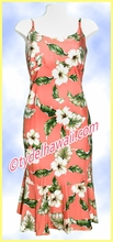 Rayon Hawaiian Classic Sun Dress - 807Coral