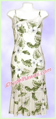 Rayon Hawaiian Classic Sun Dress -  807White
