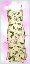 Rayon Hawaiian Classic Sun Dress - 807Yellow