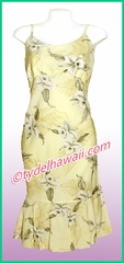 Rayon Hawaiian Classic Sun Dress - 809Yellow