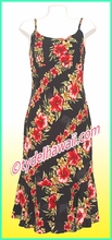 Rayon Hawaiian Classic Sun Dress - 819Black