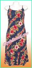 Rayon Hawaiian Classic Sun Dress -  819Navy