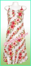Rayon Hawaiian Classic Sun Dress - 819White