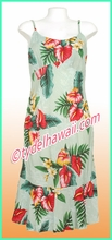 Rayon Hawaiian Classic Sun Dress - 821Green