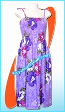 Floral Aloha Beach Dress - 8012Purple