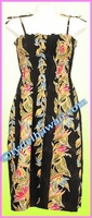 Full Length Hawaiian Smock Dress - 163Black