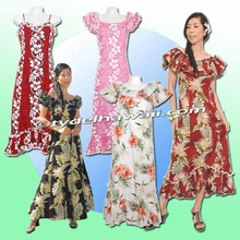 Full Length style Hawaiian Muumuu Dresses