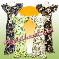 Garden Hibiscus Hawaiian Elegant Dress - 403