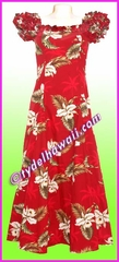 Garden Orchid Classic Aloha Dress - 413Red