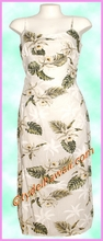 Garden Orchid Hawaiian Long Sun Dress - White