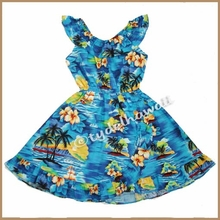 Girl Aloha Dress - 304Blue