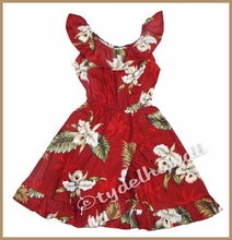 Girl Aloha Dress - 413Red