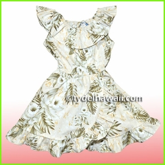Girl Aloha Dress- 456Cream