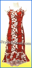 Girl Halau dress - 213Red