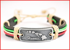 Hawaii Islands Genuine Leather Bracelet - Color ropes